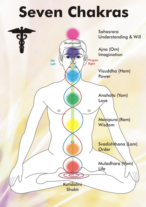 seven chakras of body